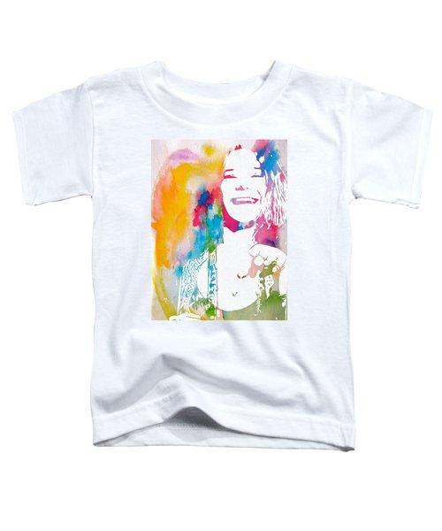 Janis Joplin Watercolor Toddler T-Shirt