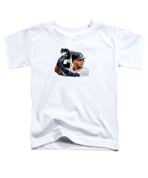 Jeter II  Derek Jeter Toddler T-Shirt by Iconic Images Art Gallery David Pucciarelli