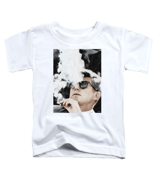 John F Kennedy Cigar And Sunglasses Toddler T-Shirt