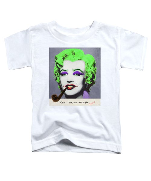 Joker Marilyn With Surreal Pipe Toddler T-Shirt by Filippo B