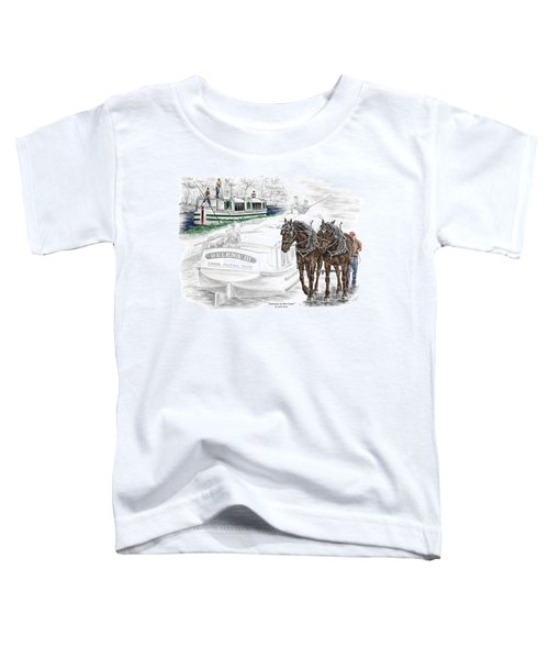 Journeys On The Canal - Canal Boat Print Color Tinted Toddler T-Shirt