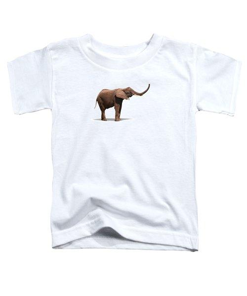 Joyful Elephant Isolated On White Toddler T-Shirt