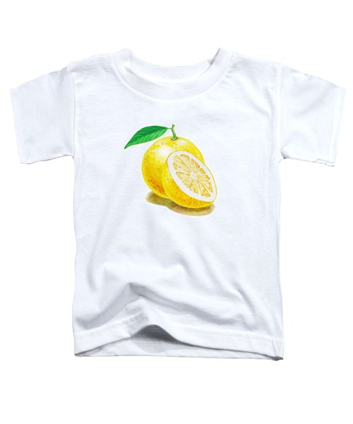 Toddler T-Shirt featuring the painting Juicy Grapefruit by Irina Sztukowski