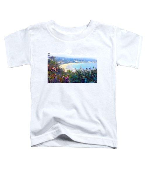 June Gloom Morning At Laguna Beach Coast Toddler T-Shirt