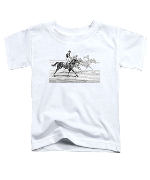 Just Finished - Horse Racing Print Toddler T-Shirt