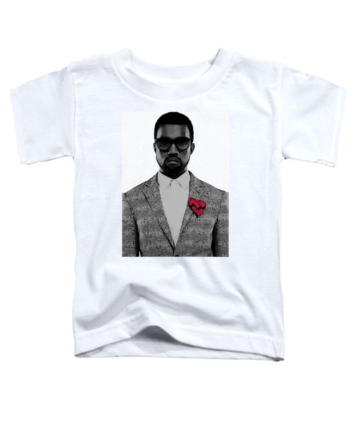 Kanye West  Toddler T-Shirt by Dan Sproul