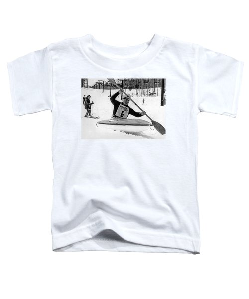 Kayaking Down The Mountain Toddler T-Shirt