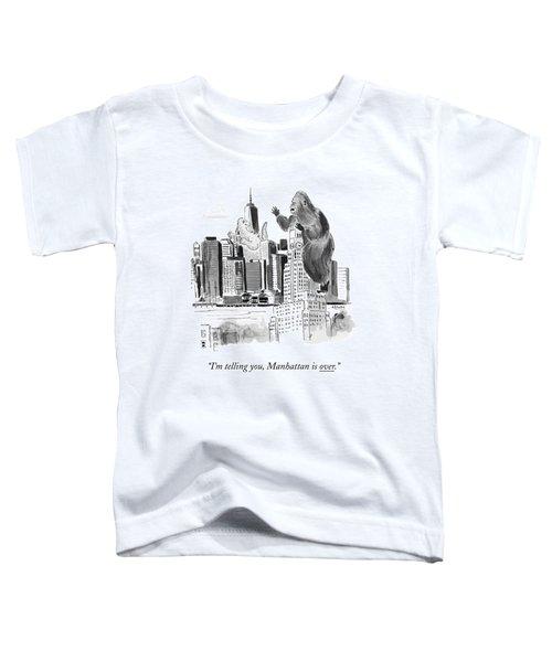 King Kong, Atop The Williamsburgh Savings Bank Toddler T-Shirt