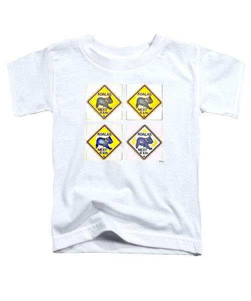 Koalas Road Sign Pop Art Toddler T-Shirt