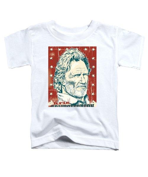 Kris Kristofferson Pop Art Toddler T-Shirt by Jim Zahniser