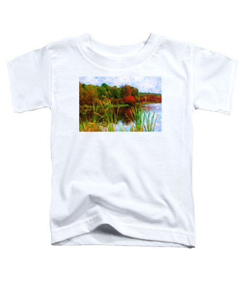 Lake In Early Fall Toddler T-Shirt