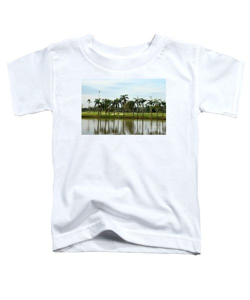 Lake Sand Traps Palm Trees And Golf Course Singapore Toddler T-Shirt