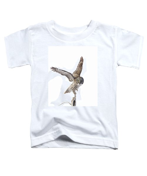 Lapland Owl On White Toddler T-Shirt