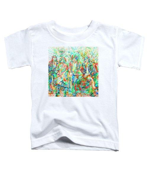 Led Zeppelin - Watercolor Portrait.1 Toddler T-Shirt by Fabrizio Cassetta
