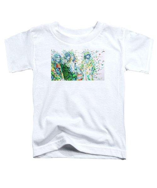 Led Zeppelin - Watercolor Portrait.2 Toddler T-Shirt by Fabrizio Cassetta