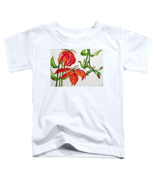 Lilies In Orange Toddler T-Shirt