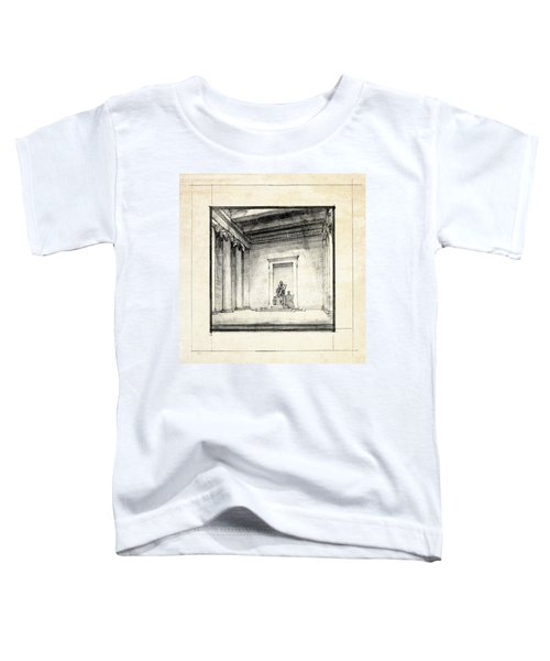 Lincoln Memorial Sketch IIi Toddler T-Shirt by Gary Bodnar