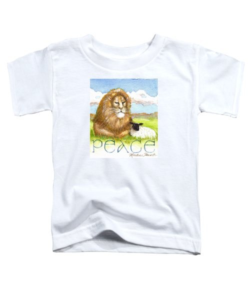 Lion And Lamb - Peace  Toddler T-Shirt