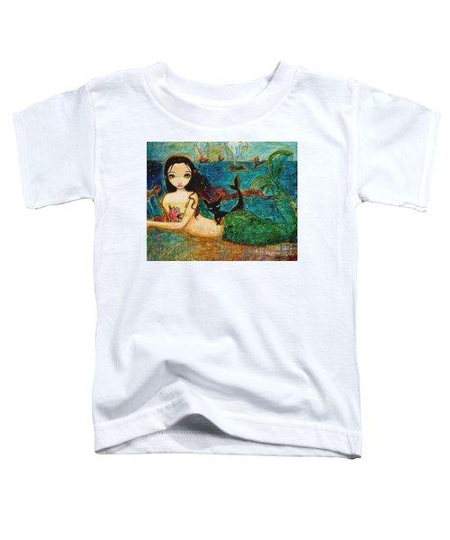 Little Mermaid Toddler T-Shirt by Shijun Munns
