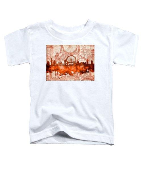 London Skyline Old Vintage 2 Toddler T-Shirt