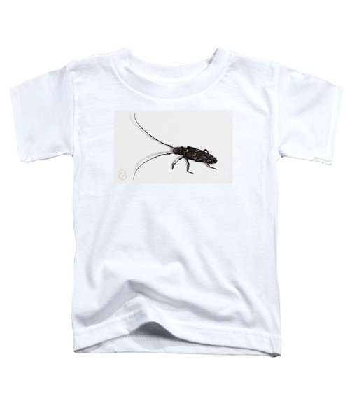 Long-hornded Wood Boring Beetle Monochamus Sartor - Coleoptere Monochame Tailleur - Toddler T-Shirt