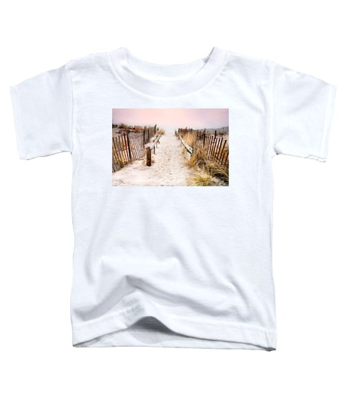 Love Is Everything - Footprints In The Sand Toddler T-Shirt