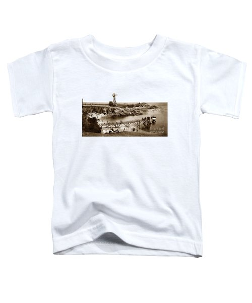 Lovers Point Beach And Old Wooden Pier Pacific Grove August 18 1900 Toddler T-Shirt