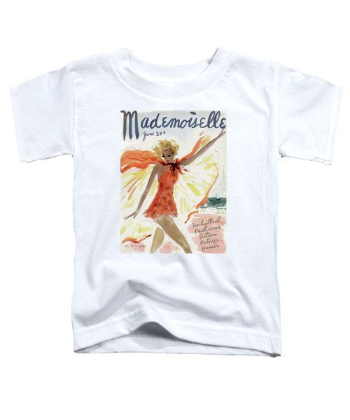 Mademoiselle Cover Featuring A Model At The Beach Toddler T-Shirt