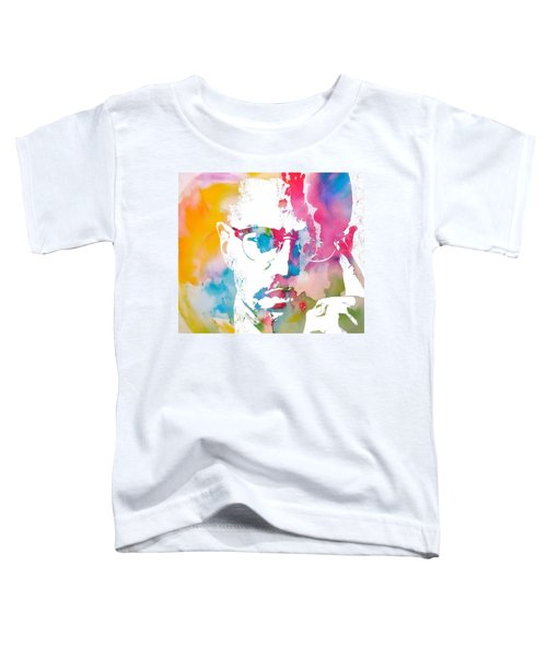 Malcolm X Watercolor Toddler T-Shirt