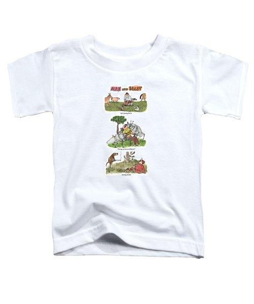 Man And Beast Toddler T-Shirt
