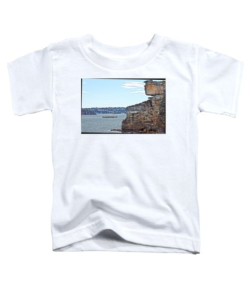 Toddler T-Shirt featuring the photograph Manly Ferry Passing By  by Miroslava Jurcik