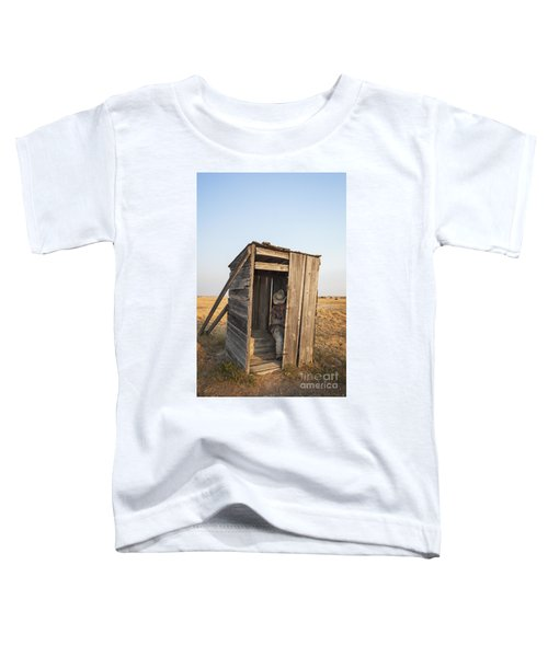 Mannequin Sitting In Old Wooden Outhouse Toddler T-Shirt