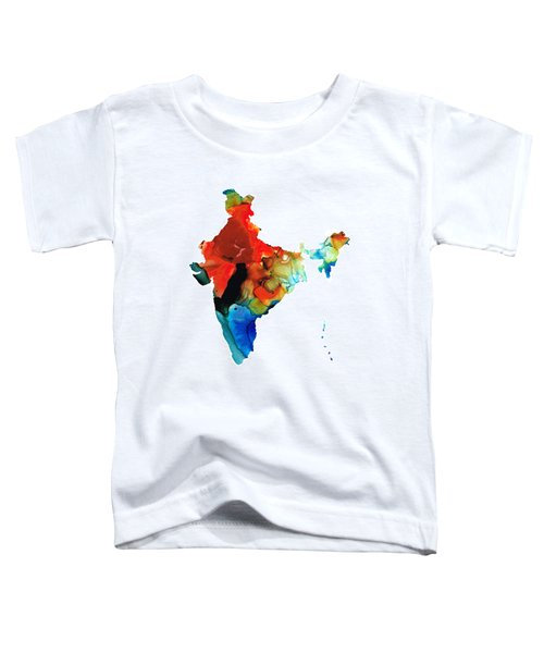 Map Of India By Sharon Cummings Toddler T-Shirt