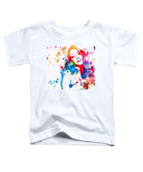 Mariah Carey Watercolor Paint Splatter Toddler T-Shirt