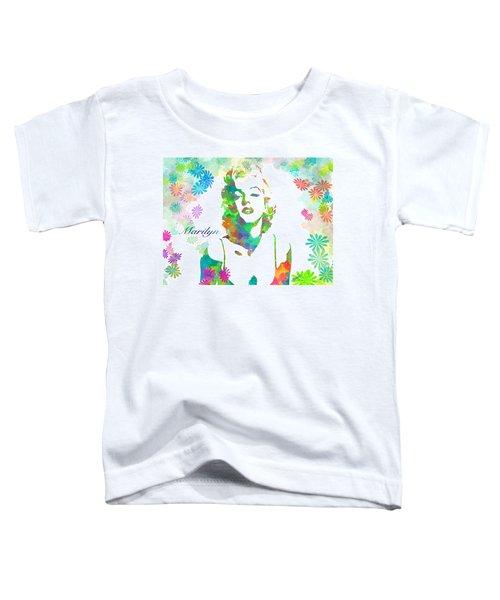 Marilyn Monroe Flowering Beauty Toddler T-Shirt