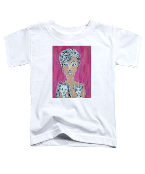 Mother And Daughters Painting And Drawing Toddler T-Shirt