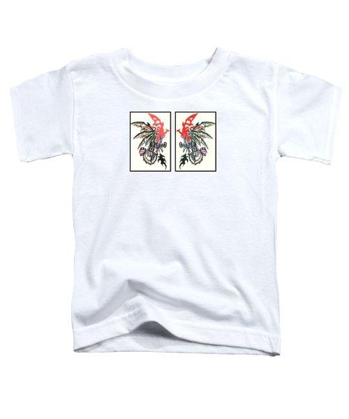 Mech Dragons Collide Toddler T-Shirt
