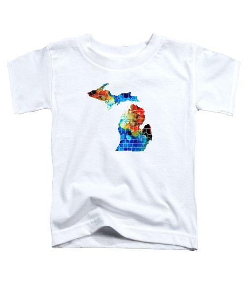 Michigan State Map - Counties By Sharon Cummings Toddler T-Shirt