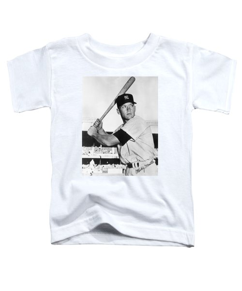 Mickey Mantle At-bat Toddler T-Shirt by Gianfranco Weiss