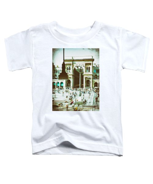 Toddler T-Shirt featuring the photograph Milan Gallery by Silvia Ganora