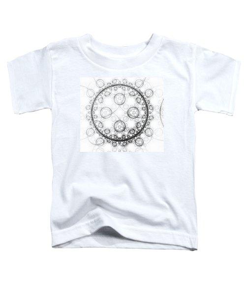Minimalist Fractal Art Black And White Circles Toddler T-Shirt