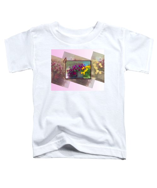 Toddler T-Shirt featuring the digital art Moms Garden Art by Susan Kinney