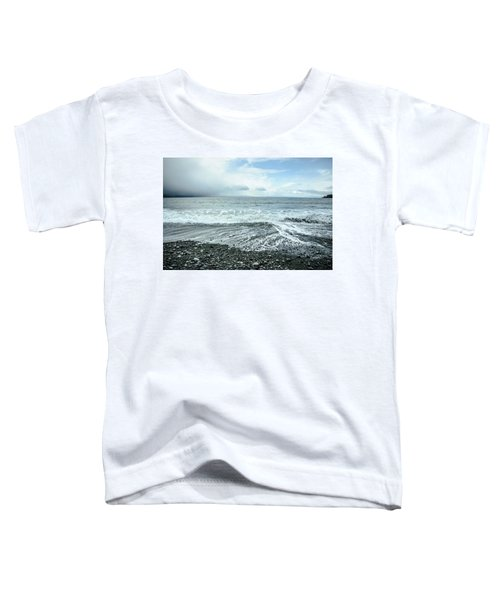 Moody Waves French Beach Toddler T-Shirt