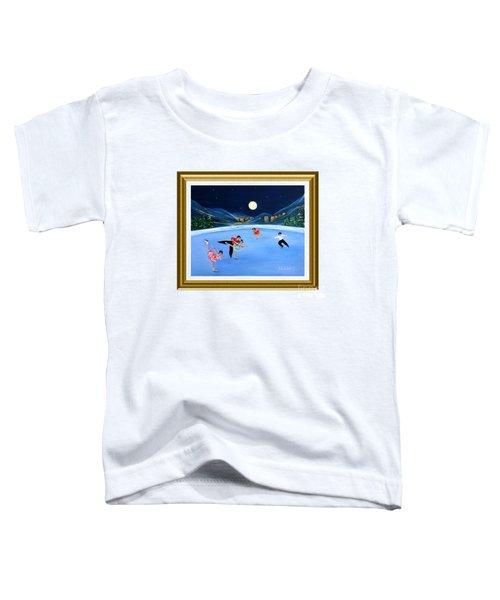 Moonlight Skating. Inspirations Collection. Card Toddler T-Shirt