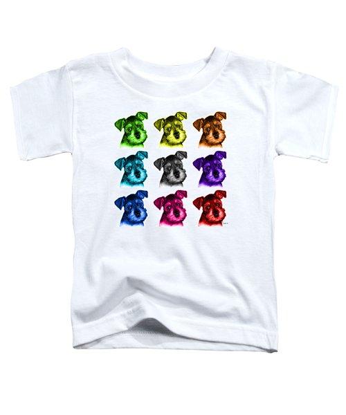 Mosaic Salt And Pepper Schnauzer Puppy 7206 F - Wb Toddler T-Shirt
