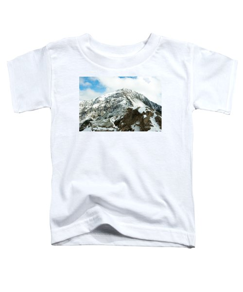 Mountain Covered With Snow Toddler T-Shirt