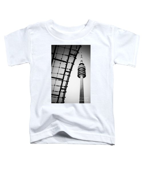 Munich - Olympiaturm And The Roof - Bw Toddler T-Shirt