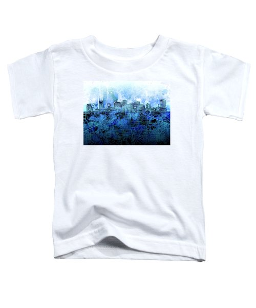 Nashville Skyline Watercolor 3 Toddler T-Shirt