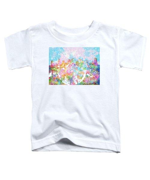 Nashville Skyline Watercolor 8 Toddler T-Shirt