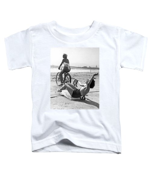 New Sport Of Ice Planing Toddler T-Shirt by Underwood Archives